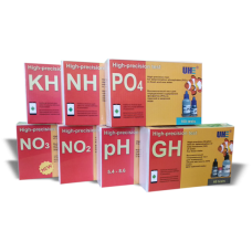 Набор тестов для пресной аквариумной воды UHE pH,GH,KH,NH3,NH4,NO2,NO3,PO4