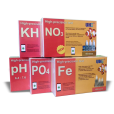 Набор тестов для пресной аквариумной воды UHE pH,KH,NO3,PO4,Fe