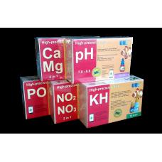 Набор тестов для морского аквариума UHE pH,KH,NO2,NO3,PO4,Ca,Mg